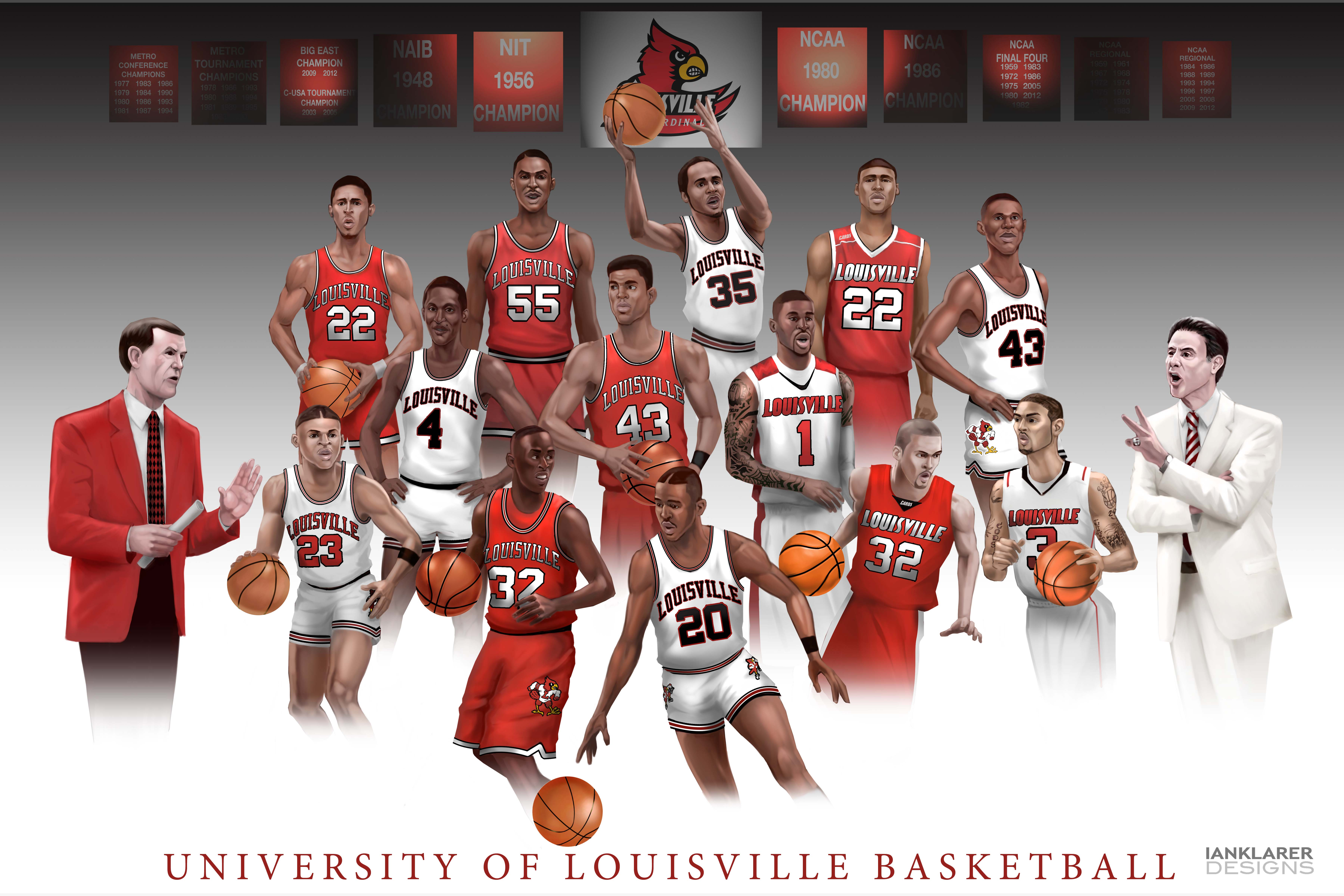 The Art Of Ian Klarer U Of L Basketball Wallpaper